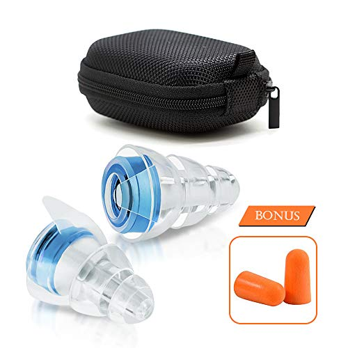 High-Fidelity Earplugs Noise Reduction Filter Hearing Protection Earplugs for Concerts KTV Traffic Sounds and More Noise Sensitivity Conditions(Size S) VZ SPORT MATE