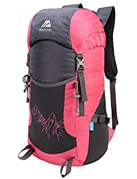 Mozone Large 40l Lightweight Water Resistant Travel Backpack/foldable & Packable Hiking Daypack Pink