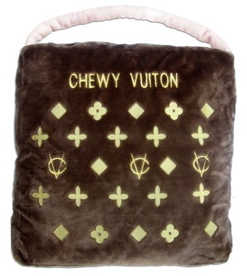 Chewy Vuiton Purse Novelty Plush Pet Bed by Dog Diggin Designs