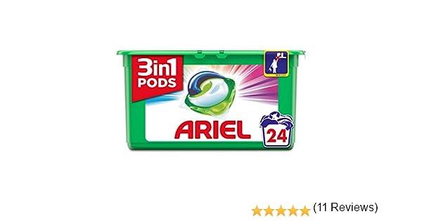 Ariel 3en1 Pods Detergente En Cápsulas, Colour & Style, Limpieza Increíble, Limpia, Quita Manchas, Ilumina - 24 Lavados: Amazon.es: Salud y cuidado personal