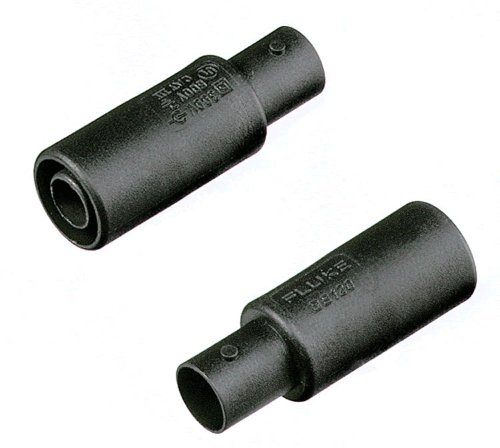 Fluke BB120 2 Piece Shielded Banana to Female BNC Adapter Set, 600V rms Voltage, For ScopeMeter 120 Series and Fluke-43B Power Quality Analyzer