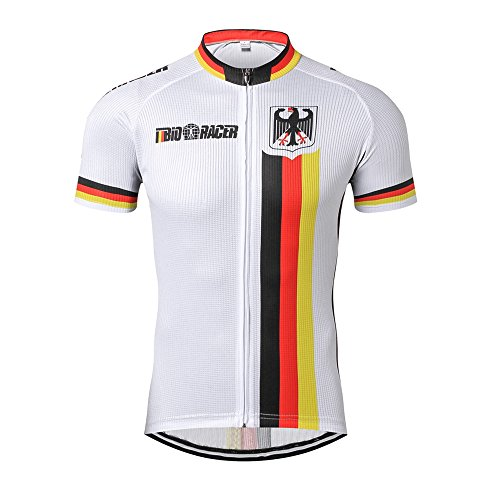 03aa12277 Weimostar Germany Deutschland Cycling Jersey Men s Short Sleeve. Tap to  expand