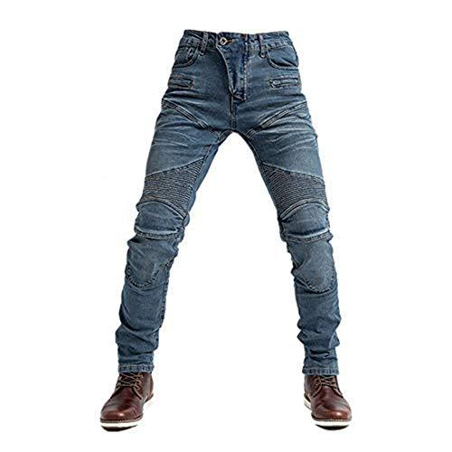 TIUTIU Motorrad-Jeans Für Herren Mit 4 Abnehmbaren Schutzpolstern, Motorrad-Jeanshose Und Sommerlich Atmungsaktiver…