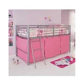 Argos Tente pour lit mi-hauteur avec cale et rangement Rose: Amazon ...