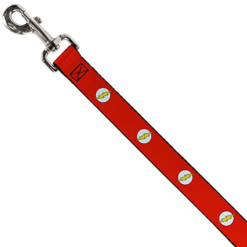 Picture of Buckle-Down Pet Leash - Flash Logo Red/White/Yellow - 4 Feet Long - 1