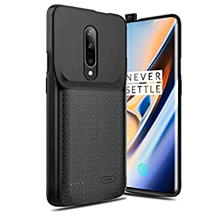 NEWDERY OnePlus 7 Pro Battery Case, 4700mAh Slim Extended Charger Case with TPU Raised Bezels, Rechargeable Charging Case Compatible OnePlus 7 Pro Smartphone 2019 Release