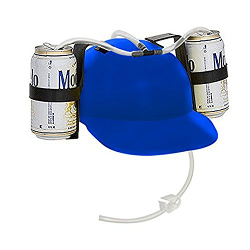 [Elstey Creative Beer and Soda Drinking Hat (Blue)] (Blue Drinking Hat)
