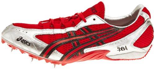 Asics cyber MD Beijing Correr puntas, color rojo, talla 48 EU Lightning/White/Fire