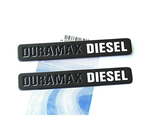 Yoaoo 2x OEM Black Duramax Diesel Allison Truck Emblem Badges SILVERADO 2500 3500 HD GMC SIERRA Matte Black White