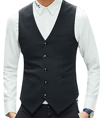 top Be Loved Beloved Men Autumn Sleeveless 5 Button Business Classic Slim Fit Suit Vest big discount