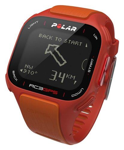 Polar 90047381 RC3 GPS Sports Watch Red/Orange