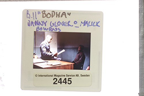 """Slides photo of A picture from the film """"Bopha!"""" casting by Danny Glover and Malick Bowens."""