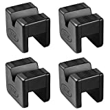 DEDC 4 Pack Jack Pad Universal Slotted Frame Rubber Frame Rail Protector Pinch Weld Protector