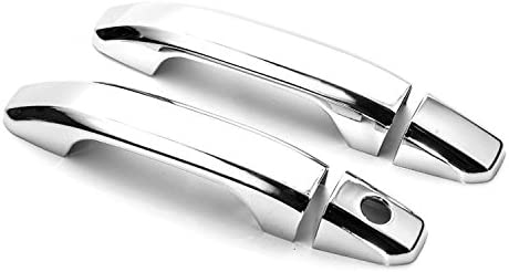 Sizver Chrome Door Handle Covers For 2014-2018 Chevy Silverado 1500