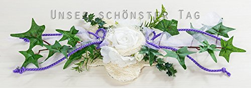 Ehrenplatz Tischdekoration Zur Hochzeit Verlobung Kommunion Konfirmation Taufe Tischdeko Td0063 In Verschiedenen Farben Erhältlich Flieder 7