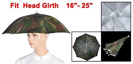 Amazon.com : Camuflagem elástico chuva sombrinha Hat 13, 4 Inch Long Green : Sports & Outdoors
