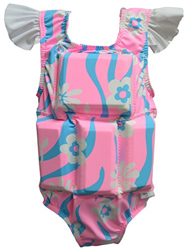 Swimwear Flotation (My Pool Pal Girl's or Boy's Swimwear Flotation Lifevest Swimsuit (Tickled Pink, Small))
