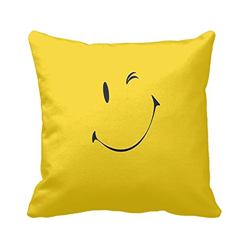 Goodaily Cotton Pillowcase Smile Face Pillow Cover 16 X 16Iinch (Settee Loose Covers)