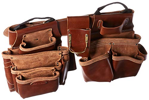 Style n Craft 98444 19 Pkt Framer's Combo in Top Grain Leather (4 Piece), Tan ()