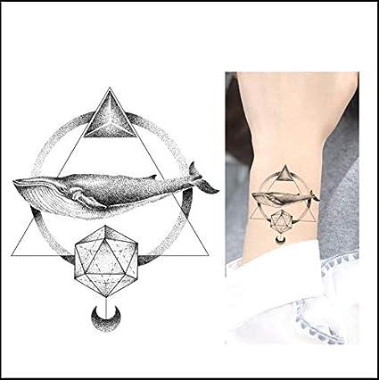 ruofengpuzi Etiqueta engomada del tatuaje Lonely 52 Hz Pegatinas ...