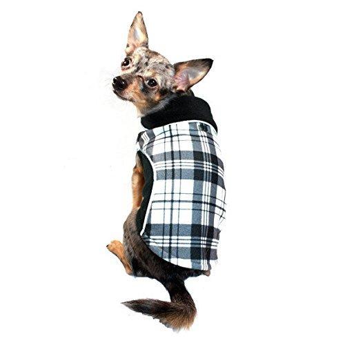 Hip Doggie HD-5PFWBK-M Reversible Polar Fleece Wrap Coat, Size M