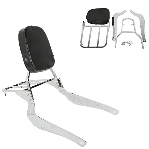 XFMT Backrest Detachable Sissy Bar Compatible with Suzuki Boulevard C50 2005 2006 2007 2008 2009 2010 2011 Boulevard M50 2005-2009