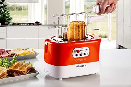 Ariete 159 Toastime, Tostapane 2 fette con pinze, Cassetto raccogli briciole, Funzione scongelamento e riscaldamento, 9… 2