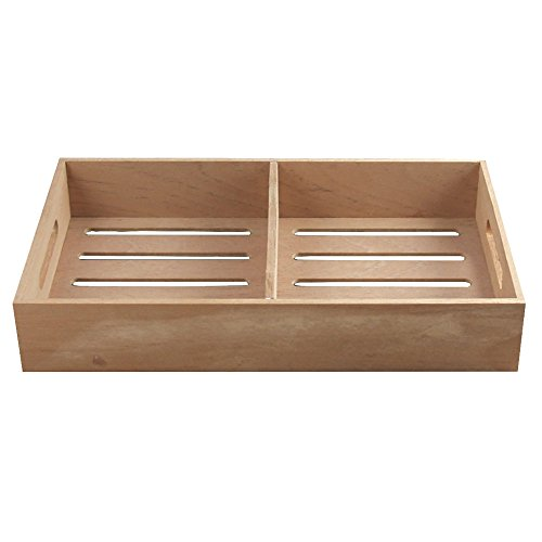 Spanish Cedar Cigar Tray, Adjustable Divider, Fits Large Humidors, Made with Solid Spanish Cedar, by Quality Importers