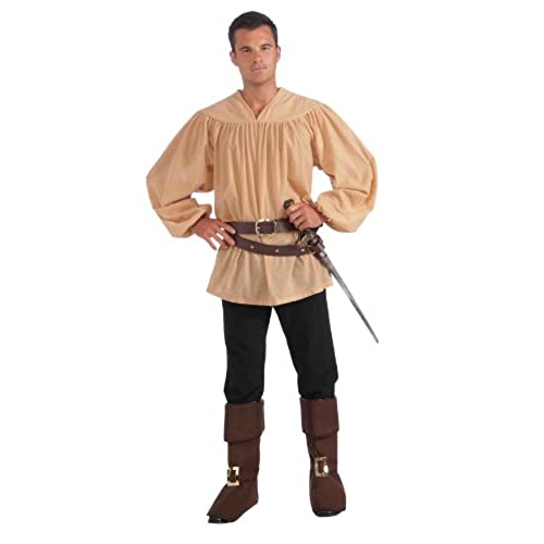 Mens renaissance costume amazon forum novelties mens adult medieval costume top beige one size solutioingenieria Gallery