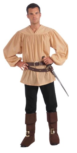 Forum Novelties Men's Extra-Large Medieval Costume Shirt, Beige, (Robin Hood Tunic)