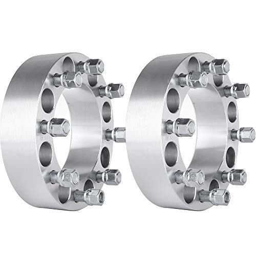 """SCITOO 8x6.5 Wheel Spacers 2 inch 2X 8x6.5 to 8x6.5 fit for Dodge Ram 2500 3500 Dually 9/16 Thread 2"""" 8 Lug Wheel Spacers Adapters"""