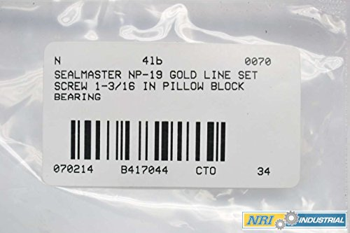 Sealmaster ERX-20 LO Wide Inner Ring Ball Bearing Special Channeling Grease Lubrication 72mm OD Lo Drag Felt Seals 1-11//16 Width 1-1//4 Bore Low Drag Setscrew Locking Collar
