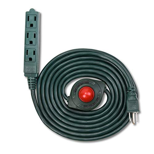 Foot Power Switch - NEW! Electes 10 Feet 3 Grounded Outlets Extension Cord with Foot Switch and Light Indicator, 16/3, Green - UL Listed