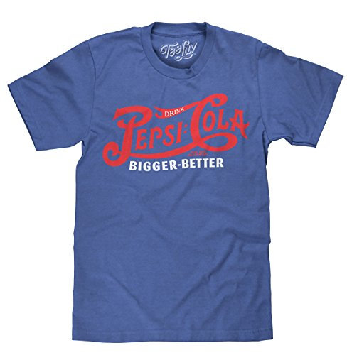 Drink Pepsi Cola Bigger Better Licensed T-Shirt | Poly Cotton Blend | Classic Look - X-Large  Royal Heather