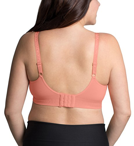 Kindred Bravely Simply Sublime Full Coverage Nursing Bra for Breastfeeding and Maternity (Peach, Large) by Kindred Bravely (Image #3)