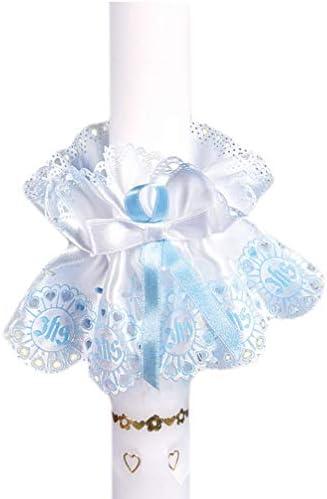 Celebration Kerzenschmuck Tropfschutz schlicht blau KS-014