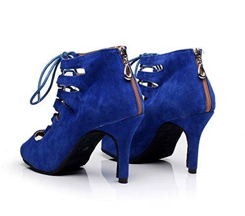 De Danse EU33 Chacha heeled8 Femmes 5cm Our34 Danse Jazz Chaussures Moderne Latin Pour De JSHOE Chaussures Samba Blue UK3 q7TPx