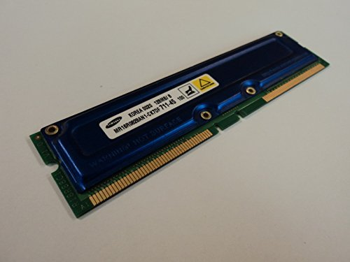 Rdram Rimm Memory Module - Samsung RAM Memory Module 128MB PC700 RDRAM RIMM non-ECC MR16R0828AN1-CK7DF