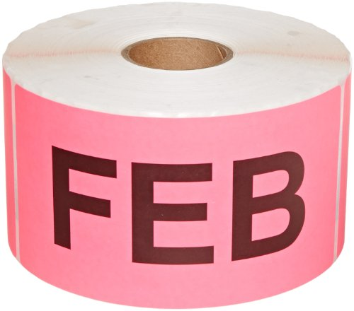 6 Inch Inventory Rectangle Labels - Tape Logic DL6722 Pre-Printed Months of the Year Inventory Rectangle Label, Legend