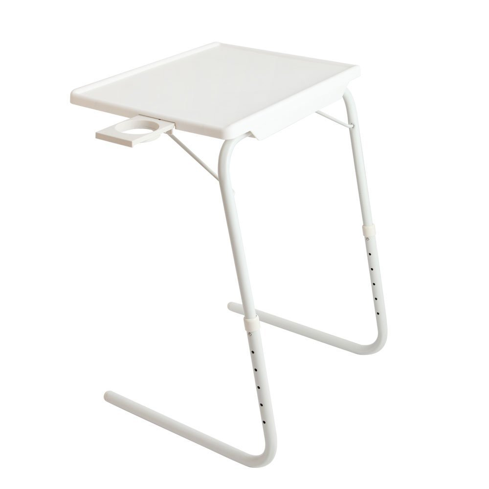 Adjustable Height Over Bed Side Table Portable Sofa Side Table for Studying Reading Breakfast Table