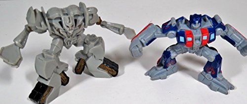 """3"""" TRANSFORMERS Optimus Prime vs Megatron TRANSFORMERS Cake Toppers, Decorations, Play Figures by Bakery Crafts"""