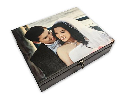 Personalized Wooden Keepsake Box with Your Photo for Weddings, Memorials, or collectibles
