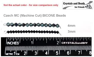 Czech MC Rondell Bead 3mm Crystal Aurum2X Gold Fully Coated Bicone, Diamond Shape 36 pieces
