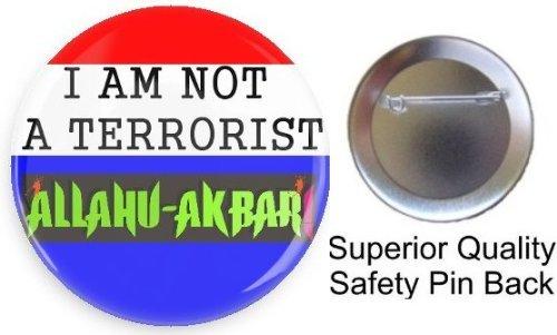 Amazon.com: I Am No es un terrorista Alá Akbar bonito Pin ...