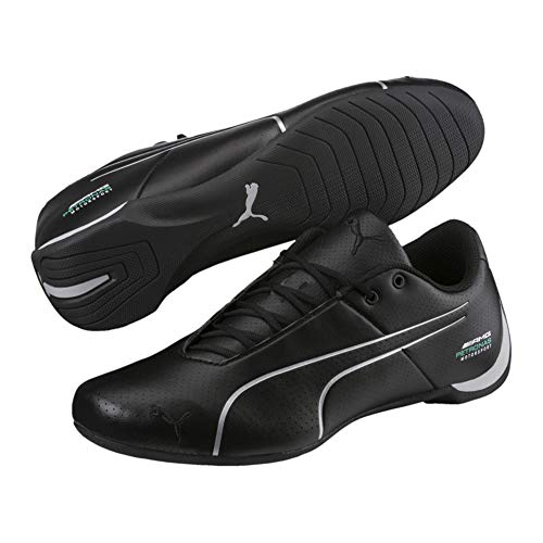 PUMA Men's Mercedes Future Cat Ultra Sneaker, Black Silver, 10.5 M US (Casual Cat Future Puma)