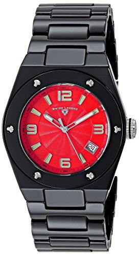 Swiss Legend Women's 10054-BKRTSA Throttle Analog Display Swiss Quartz Black Watch