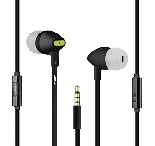 416LwookLFL - Earphones, JBU Audio Earbuds in-ear Headphones with Mic Rubberized Running Gaming Sport Work Travel Noise Canceling Ergonomic Comfort-Fit Headsets for iPhone iPad iPod Android Devices