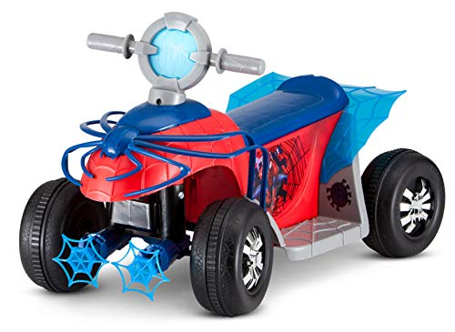 Kid Trax Ride-On Quad, Battery-Powered Toy, 6V, Marvel Spider Man Red