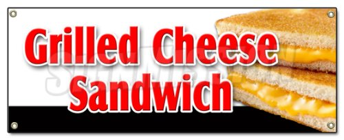 Grilled Cheese Sandwich Banner Sign Sandwich Soup Cheese Melted Toast Turkey Ham