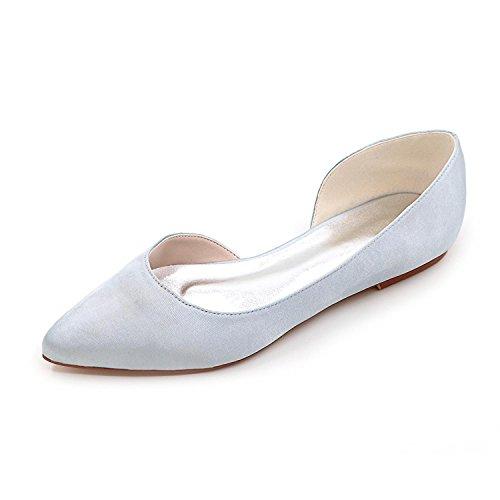 de de Zapatos 08 Mujeres Raso Tac Las Elobaby Wedding D2046 W6RcF8Hq